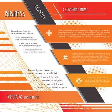 Modern design background for business. Vector illustration templ
