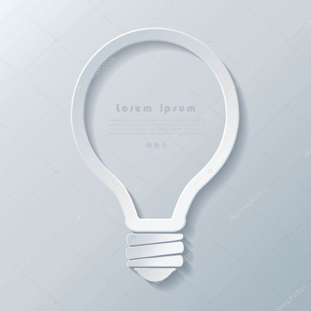 Modern idea lightbulb icon banner template can be used for your