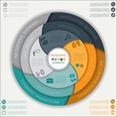 Moderní vektorový infographic šablona s kruhem, design pro vaši