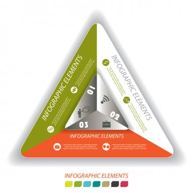 Modern vector infographic template with triangle, design for you