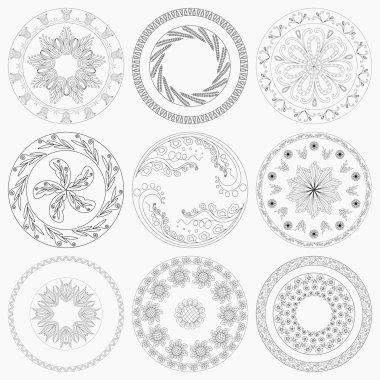Nine Circular Patterns