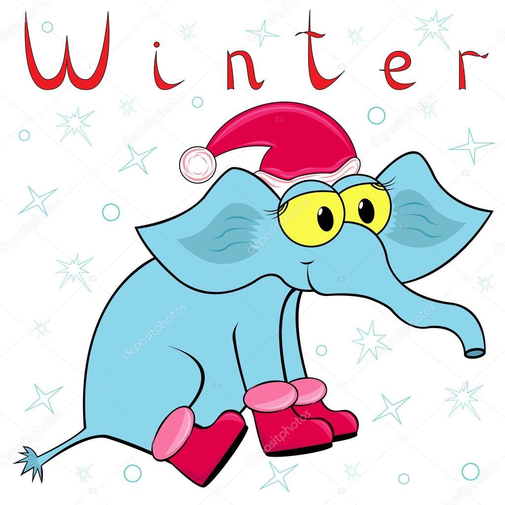 Warum Elefanten Im Winter So Kalt Ist Stockvektor Natreal 37924869