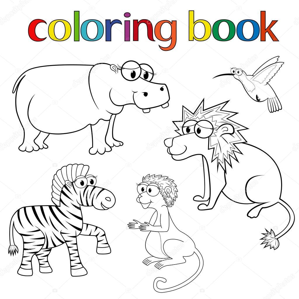Hayvan Boyama Kitabı Için Kiti Stok Vektör Natreal 44538989