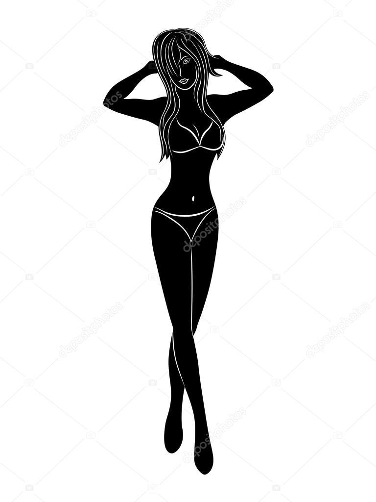Рисунок девушка в бикини