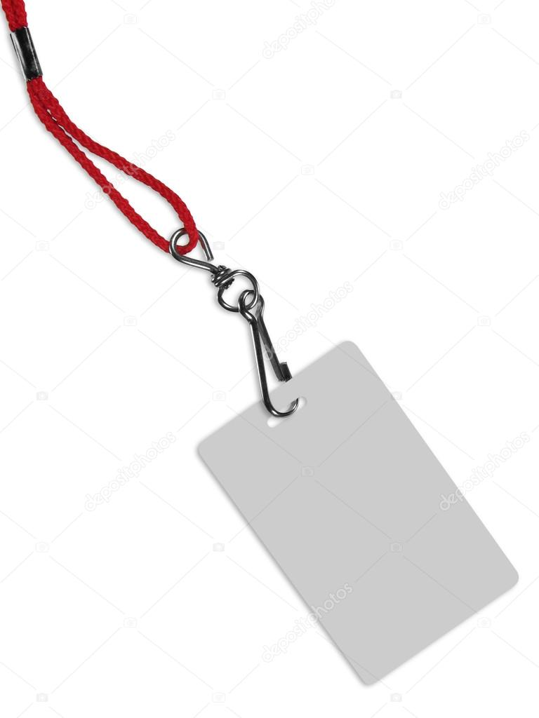Blank badge with copy space (with clipping path)