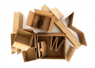Cardboard boxes, view from top