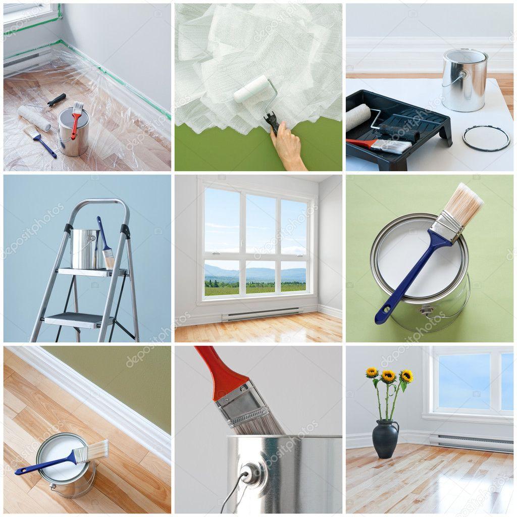 travaux de r novation dans une maison moderne photographie goodmoodphoto 38876729. Black Bedroom Furniture Sets. Home Design Ideas