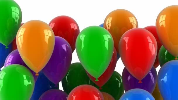 barevné balónky létají nahoru