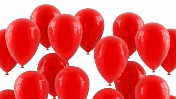 červené balóny létat nahoru