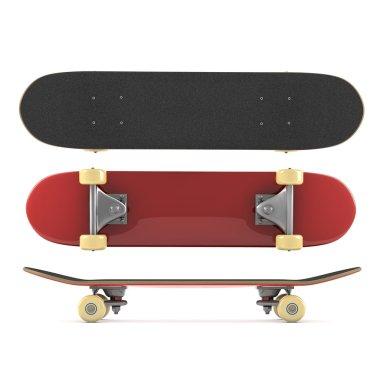 Skateboard isolated on white background stock vector