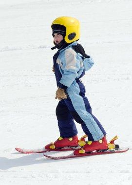Skiing child