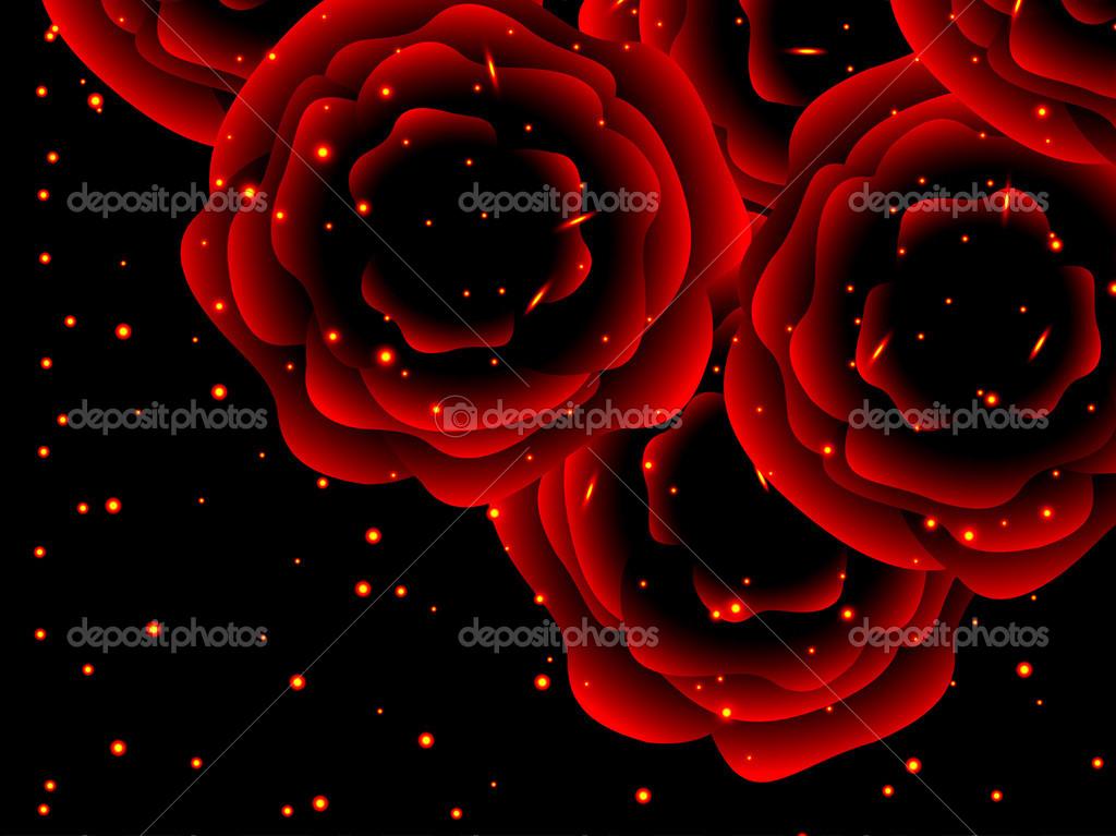 les roses sont rouges symbole d 39 amour ternel image vectorielle kadevo 32749827. Black Bedroom Furniture Sets. Home Design Ideas
