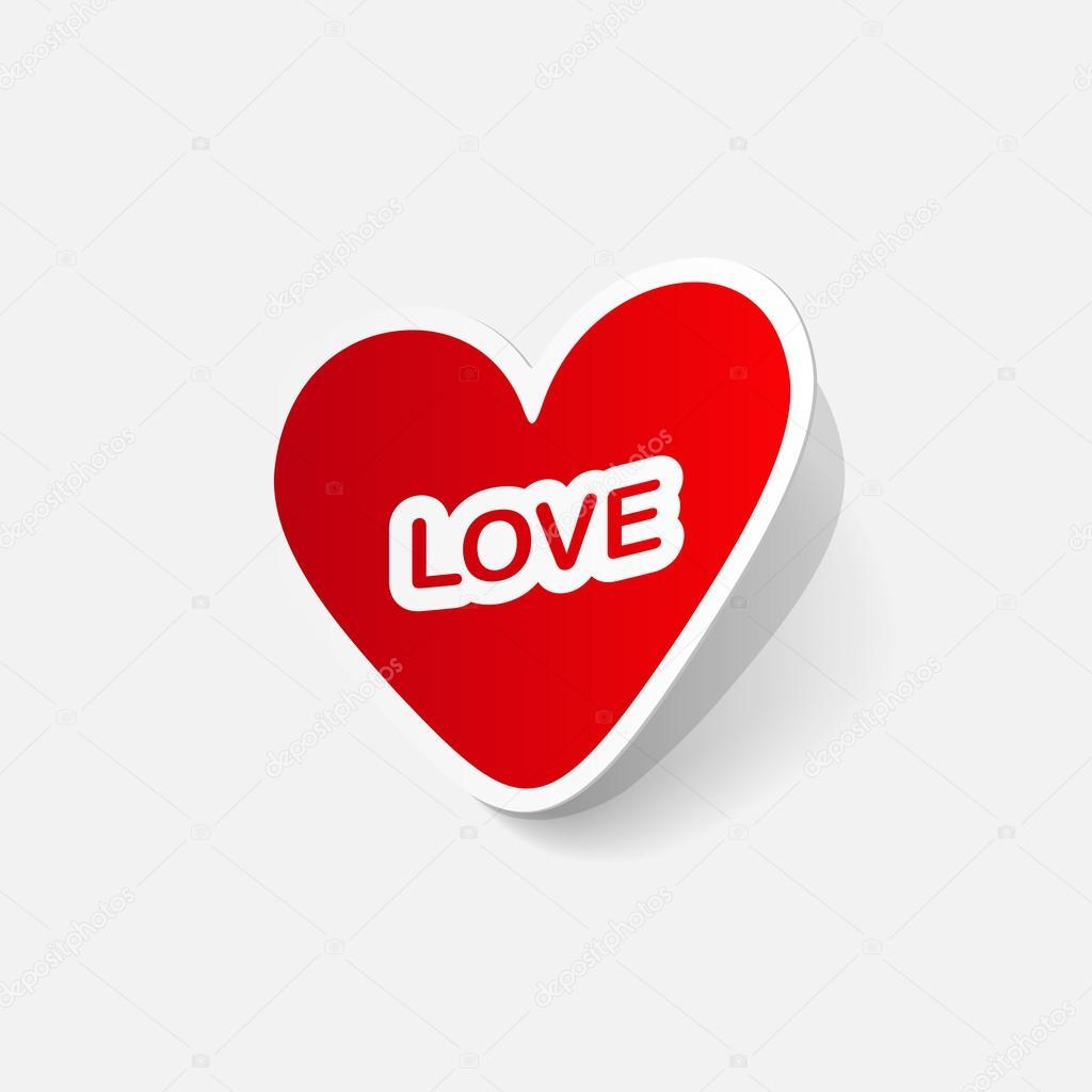 Aufkleber der Valentinstag Herz — Stockvektor © Chorniy10 #40780315