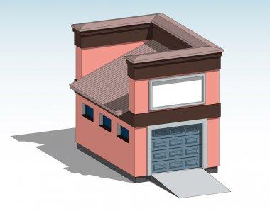Car garage, vector
