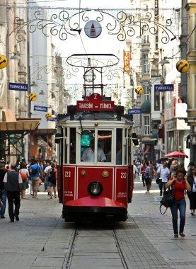 Main street of Istanbul stock vector