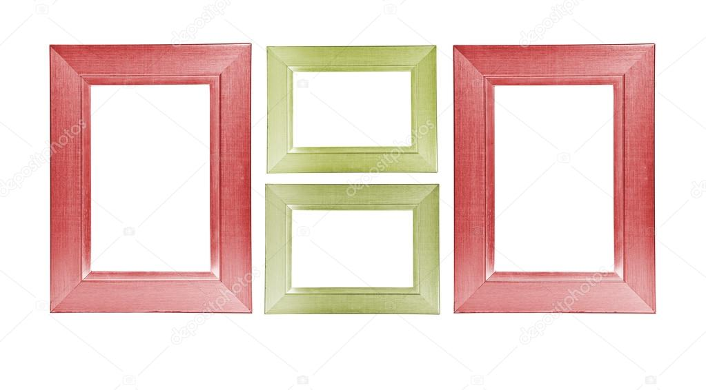 Colorful wooden frames on white background — Stock Photo © Toomler ...