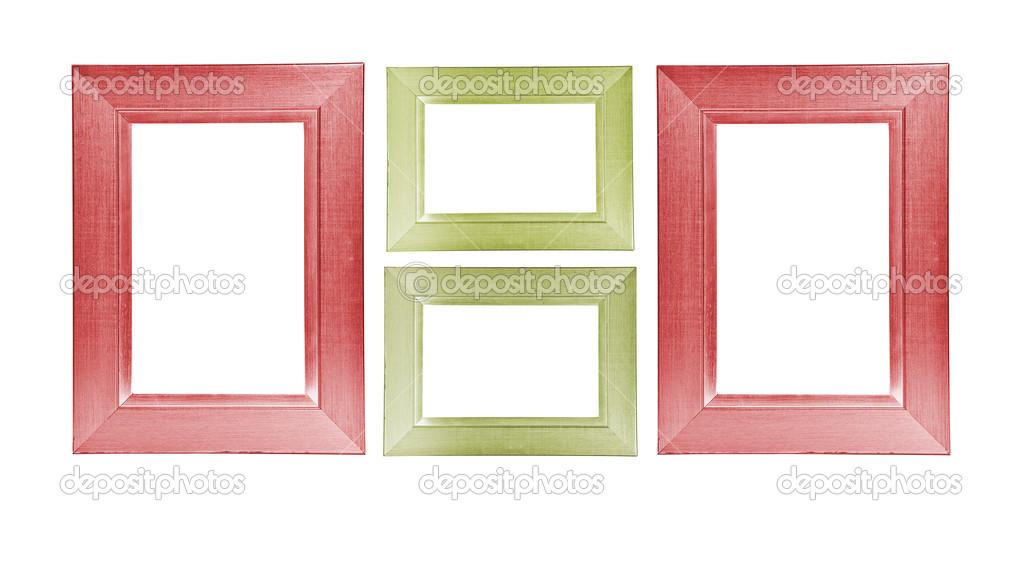 bunte Holzrahmen auf weißem Hintergrund — Stockfoto © Toomler #23993949