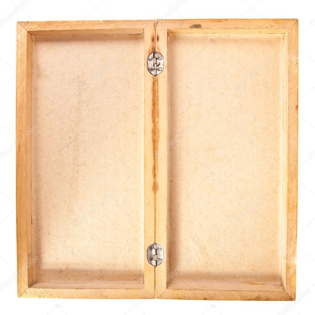 empty open wooden box top view stock photo toomler 41503285