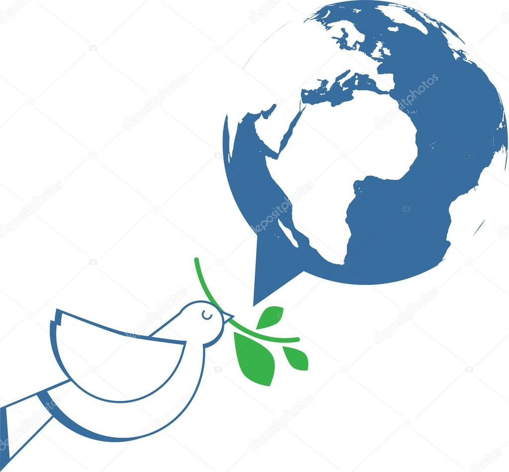 white dove holding olive branch stock vector 31095321