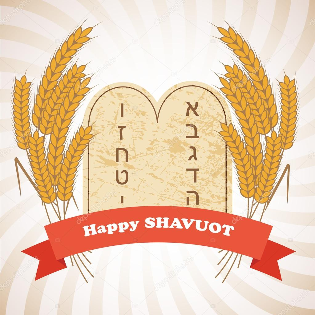 Illustration of Shavuot holiday