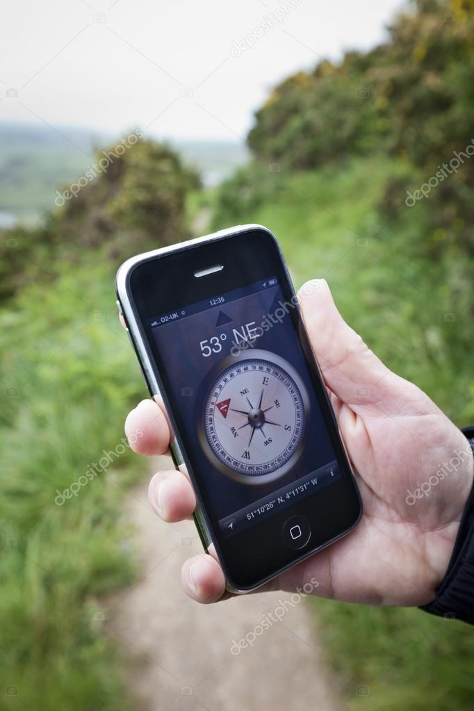 Compass App on Apple iPhone 3Gs – Stock Editorial Photo