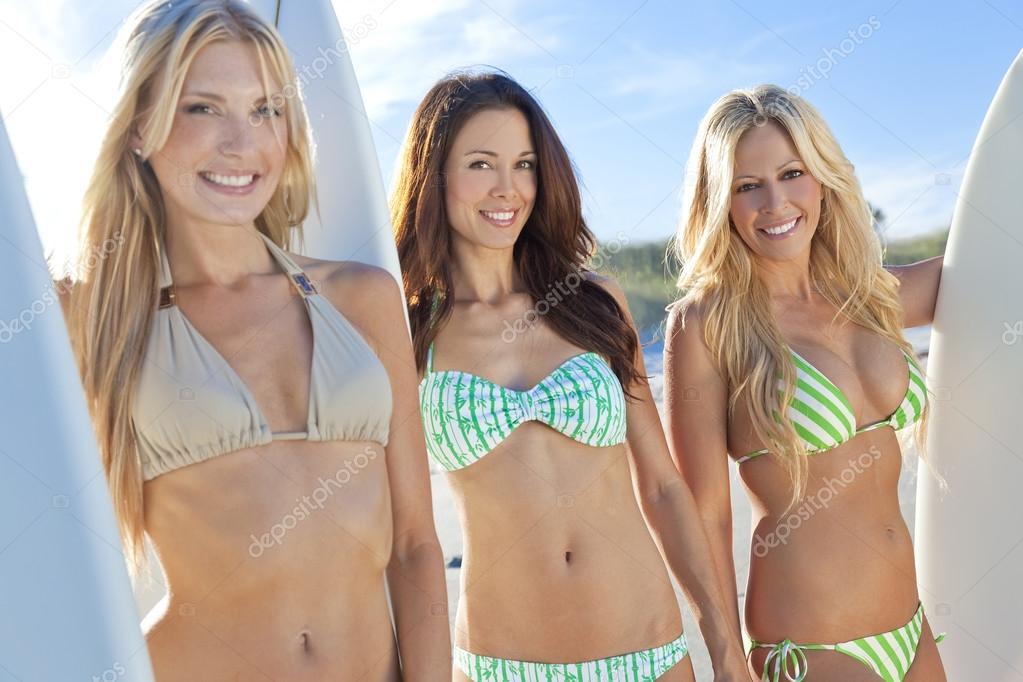 Agree with Three women in bikini swimwear consider