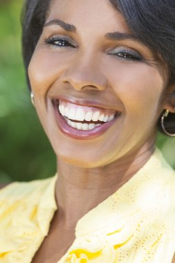 Beautiful African American Woman Smiling