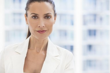 Portrait of Beautiful Woman or Businesswoman In Her Thirties