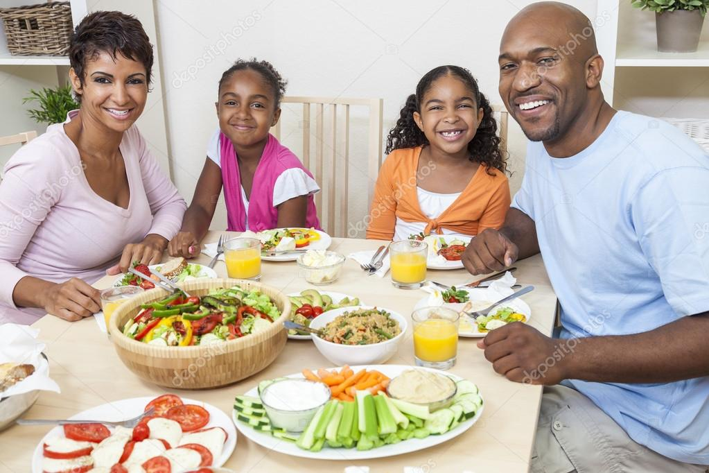 African American Parents Children Family Eating At Dining  : depositphotos21711735 stock photo african american parents children family from depositphotos.com size 1023 x 682 jpeg 101kB