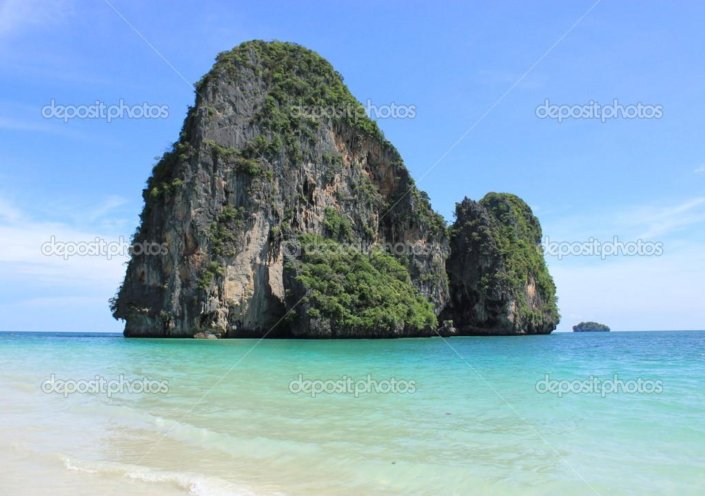Beautiful limestone island