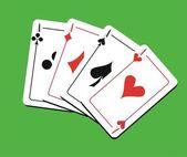Fotografie vier Asse Spielkarten
