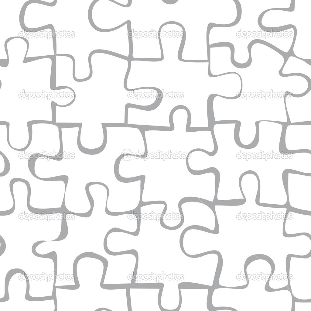 nahtlose muster puzzle stockvektor - Puzzle Muster