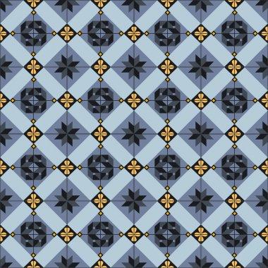 Seamless ceramic tiles pattern