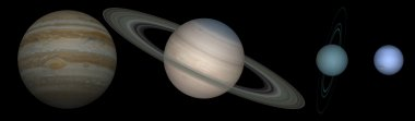 Gas planets in our solar system