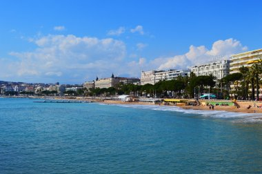 view of Cannes from the sea