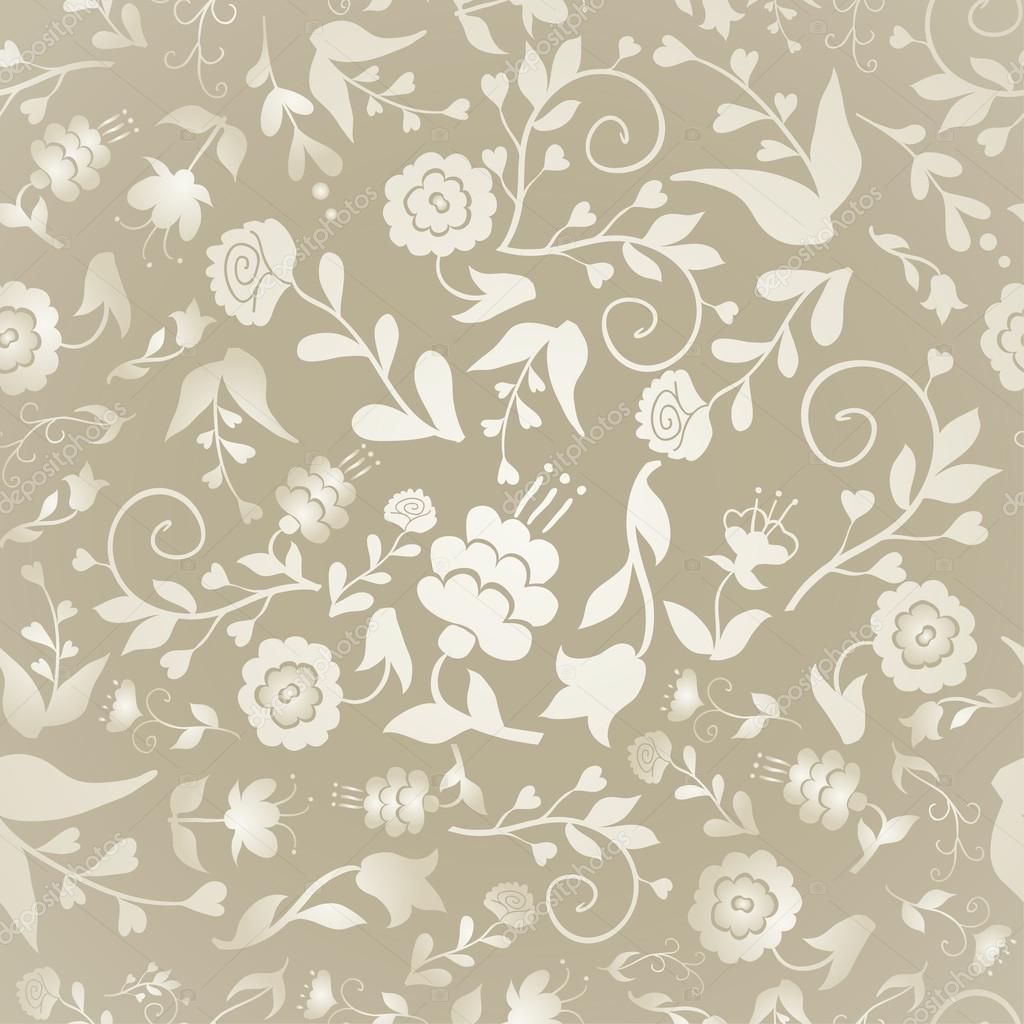 vendimia de patrones sin fisuras con flores sobre un fondo color ...