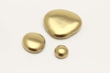 Gold Pebble contemplkation of richness