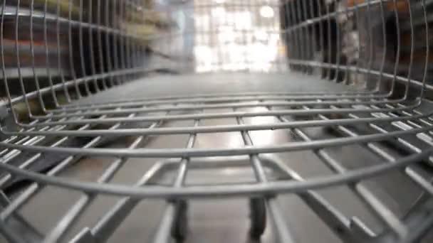 Walking with shopping cart