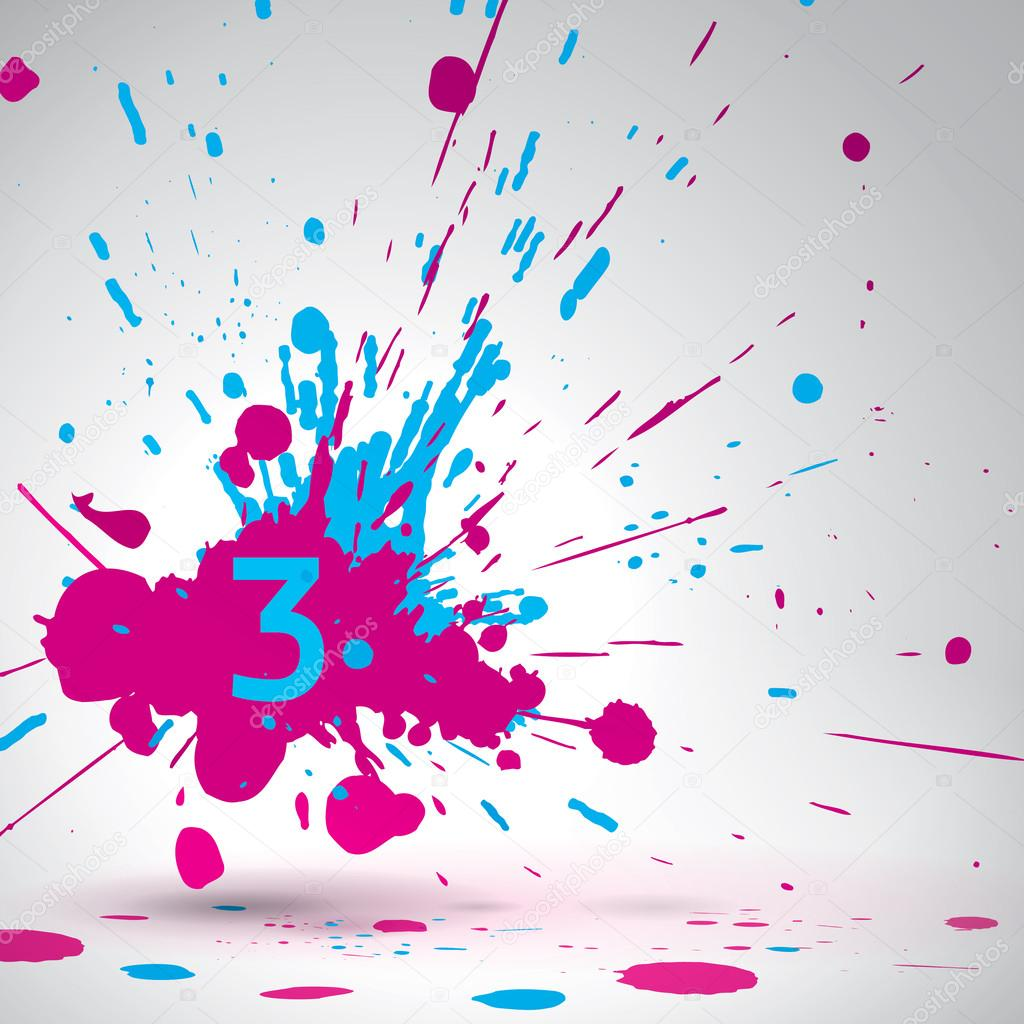 Bright blue paint colors - Color Explosion Vector Bang Bright Spray Pink And Blue Paint Stock Illustration