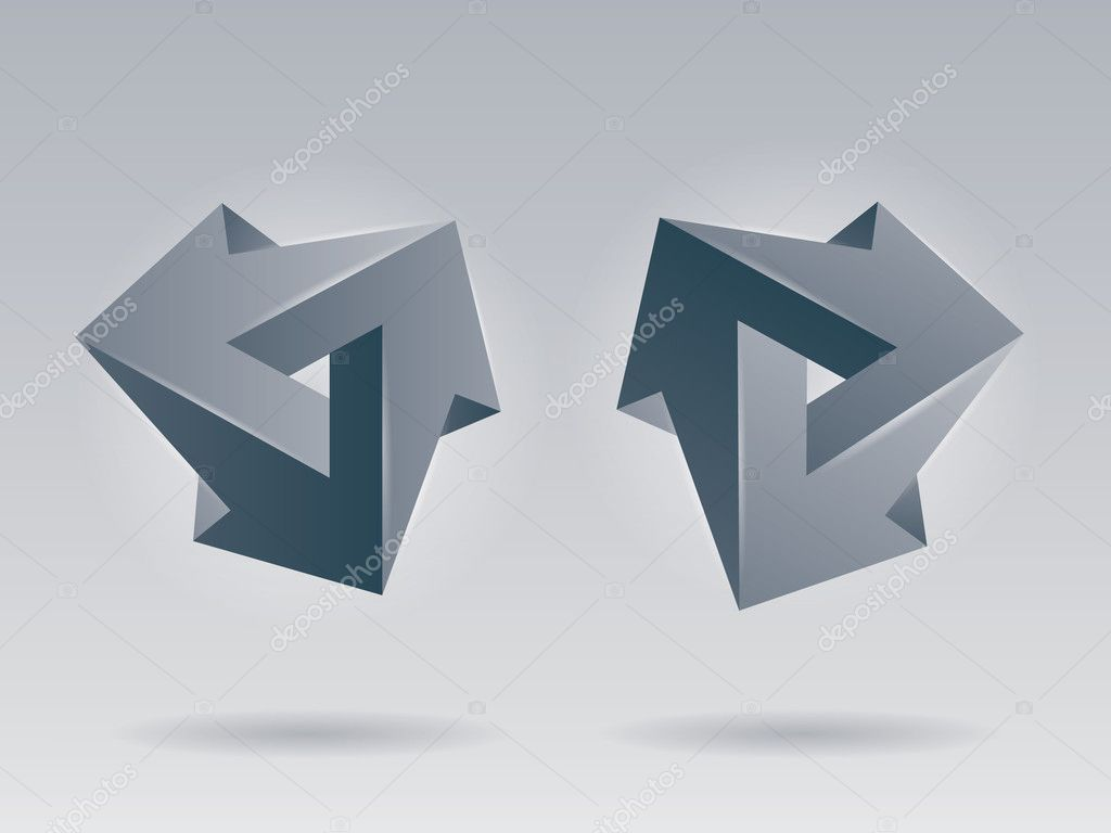 Vektor 3d unm gliche zahlen unwirkliche objekte vector - Figuras geometricas imposibles ...