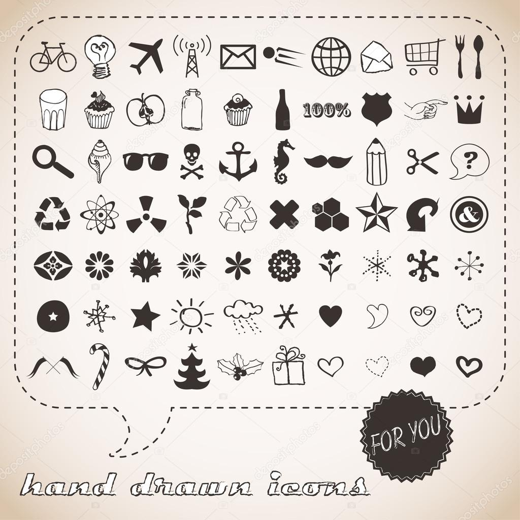 Hand drawn icons set for You