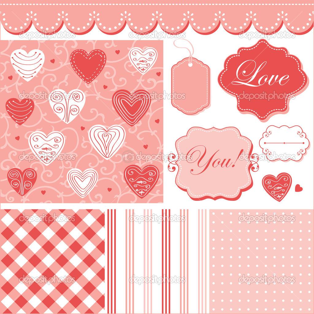 Marcos y fondos románticos lindos — Vector de stock © alevtinakarro ...