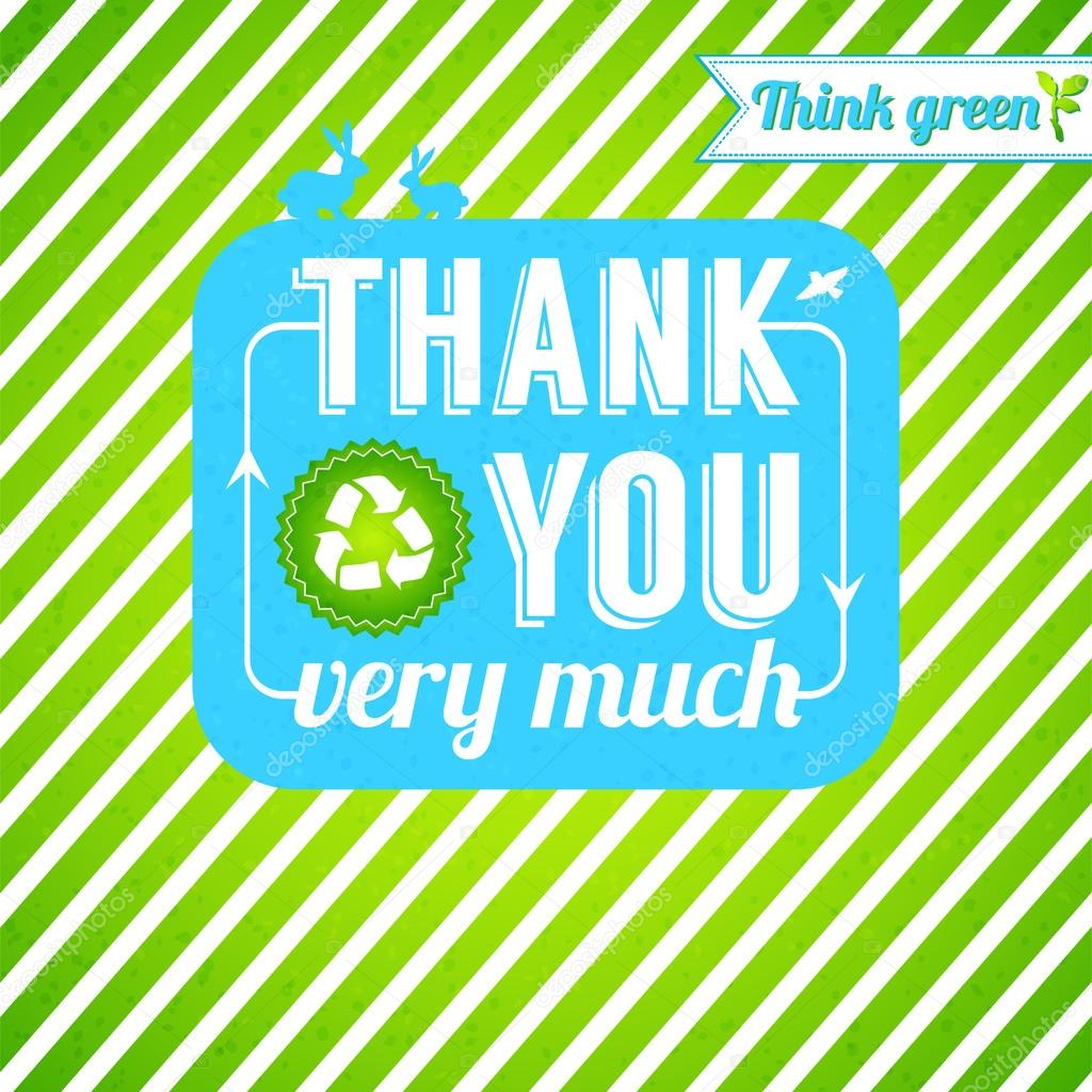Ecological thank you card.