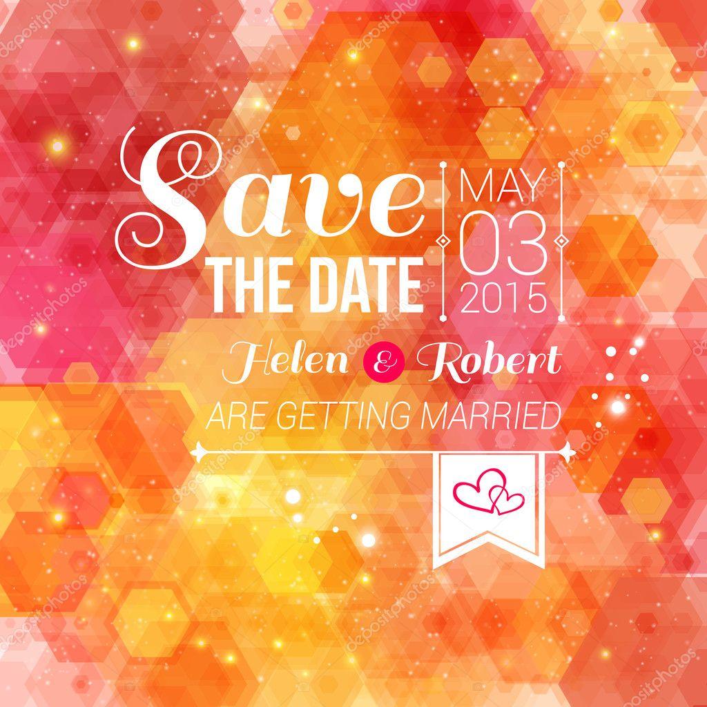 Speichern Sie Das Datum Für Persönlichen Urlaub. Einladung Zur Hochzeit U2014  Stockvektor