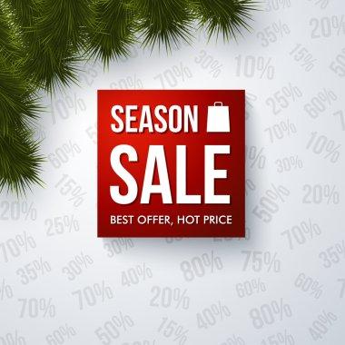 Season sale design template. Vector illustration.