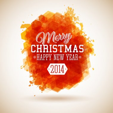 Merry Christmas and Happy New Year typographic headline. Use it for Your winter holidays design.