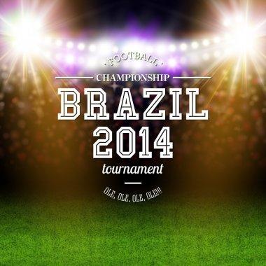 Brazil 2014 football poster.