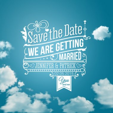 Save the date for personal holiday. Wedding invitation. Vector image. clip art vector