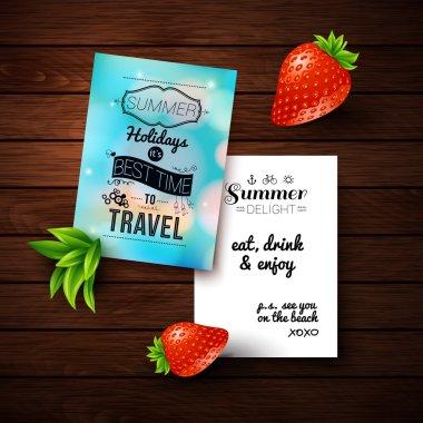 """Картина, постер, плакат, фотообои """"плакат летних каникул """", артикул 45270785"""