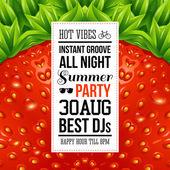 saftige Sommer Party poster